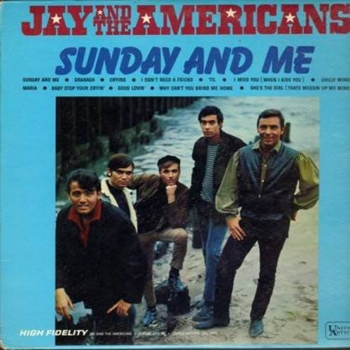Jay & The Americans - Sunday And Me: Granada, Crying, 'Til, Maria, Good Lovin', Chilly Winds (Vinyl MONO LP record) - EX8/VG7 - LP Records