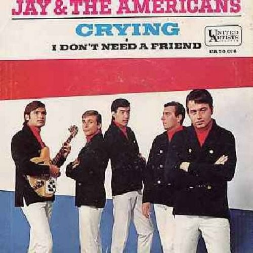 Jay & The Americans - Crying/I Don't Need A Friend (with picture sleeve) - EX8/VG7 - 45 rpm Records