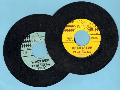 Jeb & Cousin Easy - 2 for 1 Special: The Bridge Game/The Spanish Opera (2 vintage first issue 45rpm records with 3 blank juke box labels for the price of 1!) - EX8/ - 45 rpm Records