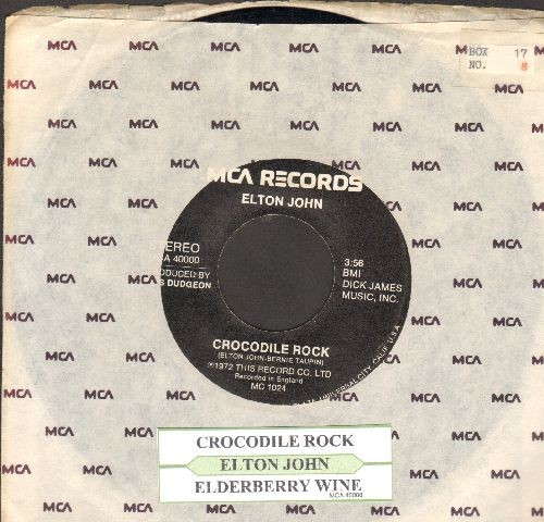 John, Elton - Crocodile Rock/Elderberry Wine (with company sleeve and juke box label) - VG7/ - 45 rpm Records