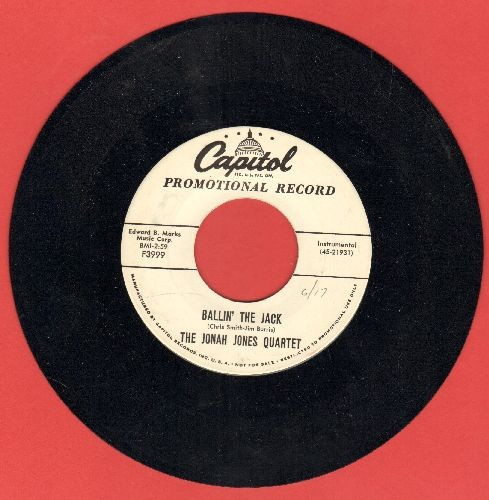 Jones, Jonah Quartet - Ballin' The Jack (slow Instrumental  version of the Jazz Classic)/Slowly But Surely (DJ advance pressing, sol) - NM9/ - 45 rpm Records