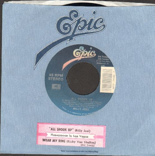 Joel, Billy - All Shook Up (EXCELLENT new cover version of Elvis Presley Hit!)/Wear My Ring Around Your Neck (Instrumental)(with juke box label and Epic company sleeve) - NM9/ - 45 rpm Records