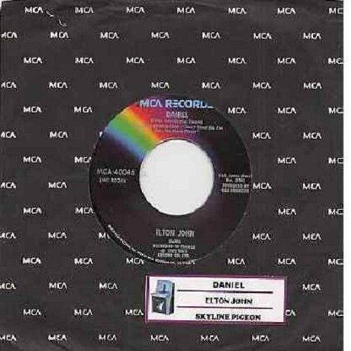 John, Elton - Daniel/Skyline Pigeon (with MCA company sleeve and juke box label) - NM9/ - 45 rpm Records