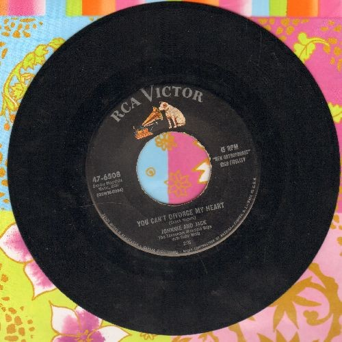 Johnnie & Jack - You Can't Divorce My Heart/Baby It's In The Making - VG7/ - 45 rpm Records