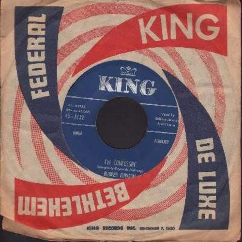 Johnson, Bubber - I'm Confessin'/Finger Tips (with vintage King company sleeve) - EX8/ - 45 rpm Records