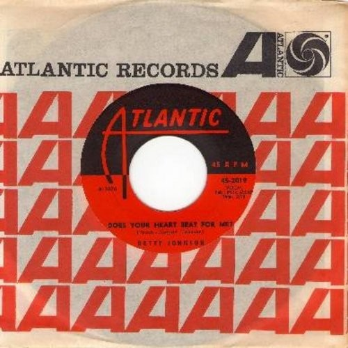 Johnson, Betty - Does Your Heart Beat For Me/You And Only You (with vintage Atlantic company sleeve) - EX8/ - 45 rpm Records