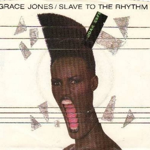 Jones, Grace - Slaves To The Rhythm/G.I. Blues (DJ advance pressing with pictur sleeve) - NM9/EX8 - 45 rpm Records