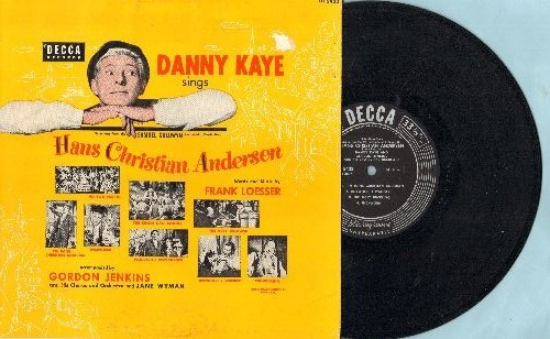Kaye, Danny - Danny Kaye Sings Hans Christian Andersen (10 inch 33 rpm vinyl LP record with picture cover) - EX8/EX8 - LP Records