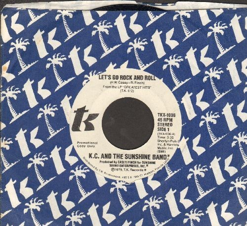 K.C. & The Sunshine Band - Let's Go Rock And Roll (double-A-sided DJ copy with company sleeve) - NM9/ - 45 rpm Records