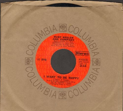Keeler, Ruby & Company - I Want To Be Happy/Tea For Two (with Columbia company sleeve) - EX8/ - 45 rpm Records