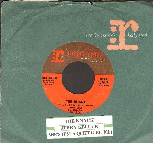Keller, Jerry - The Knack (Theme from British Cinema-Cult-Classic -The Knack-)/She's Just A Quiet Girl (from film -The Yellow Rolls Royce-) (with vintage Reprise company sleeve and juke box label) - EX8/ - 45 rpm Records