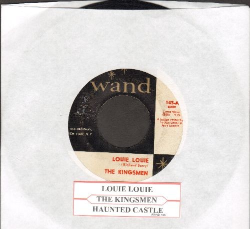 Kingsmen - Louie Louie (FRAT PARTY FAVORITE!)/Haunted Castle (with juke box label) - EX8/ - 45 rpm Records