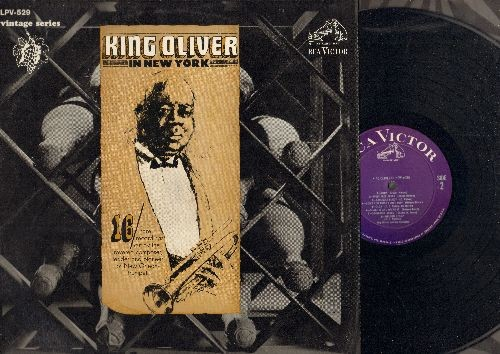 King Oliver - King Oliver In New York: Too Late, Sweet Like This, St. James Infirmary, Struggle Buggy, Nelson Stomp (vinyl LP record, 1966 issue of vintage Jazz recordings) - NM9/NM9 - LP Records