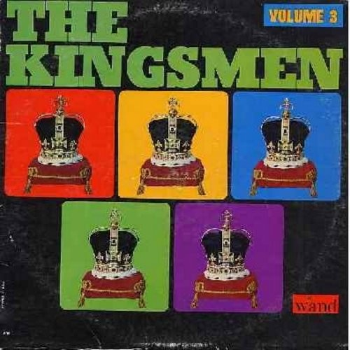 Kingsmen - The Kingsmen - Volume 3: Jolly Green Giant, I Go Crazy, Mother In Law, Shout, Comin' Home Baby (Vinyl MONO LP record) - EX8/EX8 - LP Records