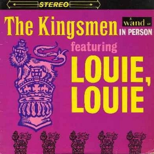"Kingsmen - In Person Featuring ""Louie Louie"":  Fever, You Can't Sit Down,  Twist & Shout, Money, Mashed Potatoes (Vinyl STEREO LP record) - NM9/EX8 - LP Records"