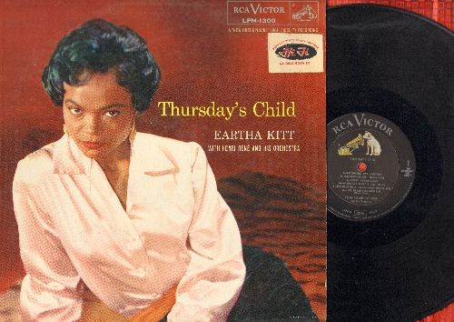 Kitt, Eartha - Thursday's Child: Mademoiselle Kitt, Just An Old Fashioned Girl, Jonny, Le Danseur De Charleston, Lullaby Of Birdland (vinyl MONO LP record, soc) - EX8/VG7 - LP Records