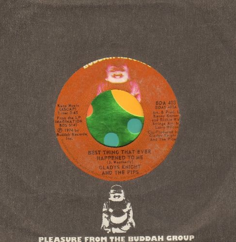 Knight, Gladys & The Pips - Best Thing That Ever Happened To Me/Once In A Lifetime Thing (with Buddah company sleeve) - NM9/ - 45 rpm Records