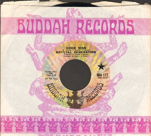 Krystal Generation - Good Man/I've Got To Leave Him (RARE Funk 2-sider, DJ advance pressing with Buddah company sleeve) - NM9/ - 45 rpm Records
