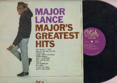 Lance, Major - Major's Greatest Hits: The Monkey Time, Um Um Um UM Um Um, Hey Little Girl,Girls, Sometimes I Wonder (Vinyl MONO LP record) - EX8/EX8 - LP Records