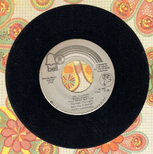 Lawrence, Vicki - Mr. Allison/He Did With Me  - VG7/ - 45 rpm Records