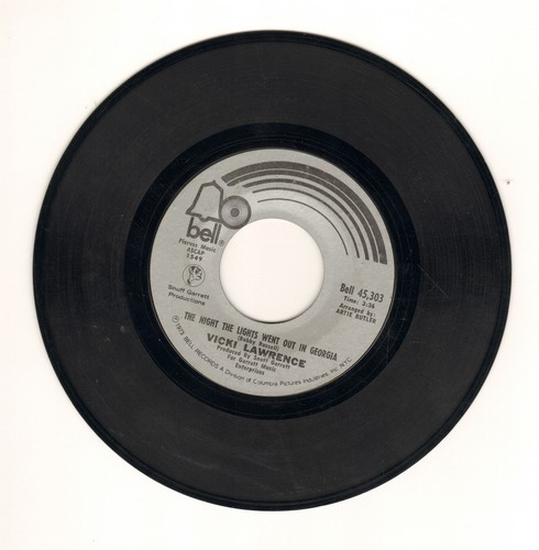 Lawrence, Vicki - The Night The Lights Went Out In Georgia/Dime A Dance  - VG7/ - 45 rpm Records