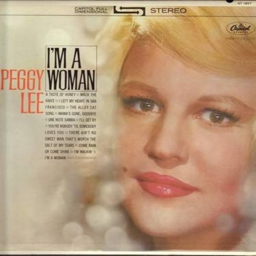 Lee, Peggy - I'm A Woman: Mack The Knife, I Left My Heart In San Francisco, One Note Samba, Come Rain Or Come Shine, I'm Walkin' (Vinyl STEREO LP record, rainbow-circle label) - M10/EX8 - LP Records