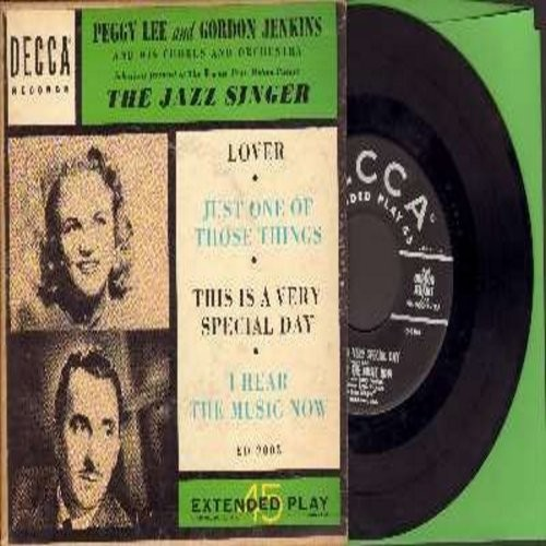 Lee, Peggy - This Is A Very Special Day/I Hear The Music Now/Lover/Just One Of Those Things (EP with picture cover) - VG7/VG7 - 45 rpm Records