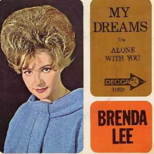 Lee, Brenda - My Dreams/Alone With You (with picutre sleeve) - M10/EX8 - 45 rpm Records