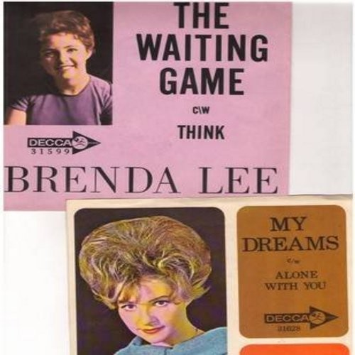 Lee, Brenda - 2 for 1 Special: My Dreams/The Waiting Game (2 vintage first issue 45rpm records with RARE picture sleeves for the price of 1!) - M10/EX8 - 45 rpm Records