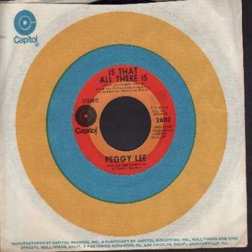 Lee, Peggy - Is That All There Is?/I'm A Woman (first issue with Capitol company sleeve) - EX8/ - 45 rpm Records