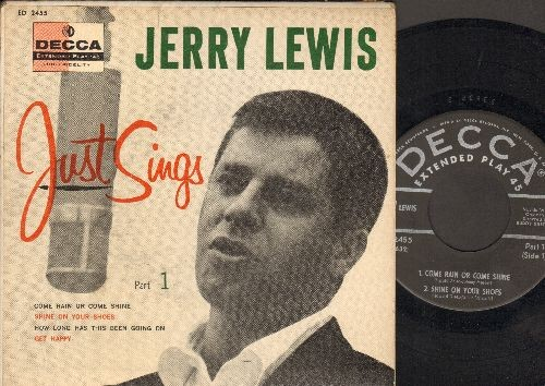Lewis Jerry Jerry Lewis Just Sings Part 1 Come Rain Or Come Shine Shine On Your Shoes How Long Has This Been Going On Get Happy Vinyl Ep Record