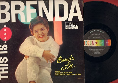 Lee, Brenda - This Is…..Brenda: I Want To Be Wanted, If I Didn't Care, Just A Little, Blueberry Hill, Pretend (Vinyl MONO LP record) - NM9/NM9 - LP Records
