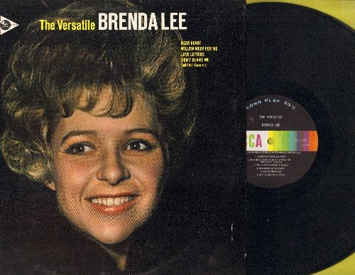Lee, Brenda - The Versatile Brenda Lee: Yesterday's Gone, La Vie En Rose, The Birds And The Bees, Maybe (Vinyl MONO LP record) - VG7/VG7 - LP Records