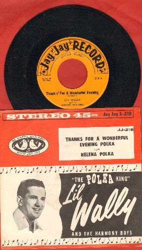 Li'l Wally - Thanks For A Wonderful Evening Polka/Helena Polka (with RARE picture sleeve) - EX8/EX8 - 45 rpm Records