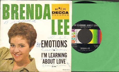 Lee, Brenda - Emotions/I'm Learnin' About Love (with picture sleeve, wos) - EX8/VG7 - 45 rpm Records