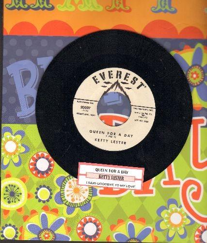 Lester, Ketty - Queen For A Day/I Said Goodbye To My Love (DJ advance pressing, NICE condition with juke box label) - NM9/ - 45 rpm Records