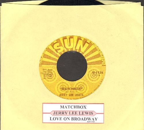 Lewis, Jerry Lee - Matchbox/Love On Broadway (re-issue with juke box label) - EX8/ - 45 rpm Records