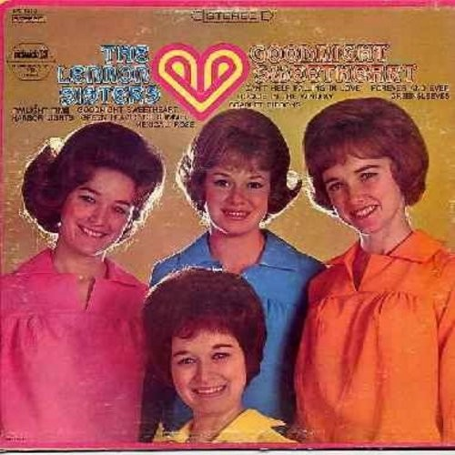 Lennon Sisters - Goodnight Sweetheart: Twilight Time, Harbor Lights, Can't Help Falling In Love, Doggie In The Window (Vinyl STEREO LP rcord, re-issue) - EX8/EX8 - LP Records