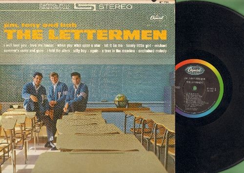 Lettermen - Jim, Tony and Bob - The Lettermen: Love Me Tender, When You Wish Upon A Star, Let It Be Me, Unchained Melody (Vinyl STEREO LP record) - VG7/VG7 - LP Records