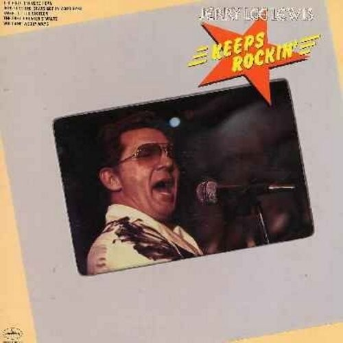 Lewis, Jerry Lee - Jerry Lee Lewis Keeps Rockin': Blue Suede Shoes, Before The Night Is Over, Wild And Wooly Ways, The Last Cheater's Waltz (Vinyl LP record) - NM9/EX8 - LP Records