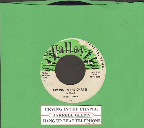 Glenn, Darrell - Crying In The Chapel/Hang Up That Telephone (with juke box label) - VG7/ - 45 rpm Records