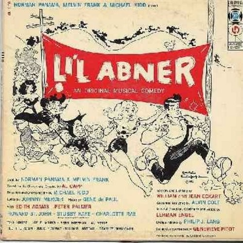 Li'l Abner - Li'l Abner - Original Broadway Cast Recording, featuring Edie Adams, Peter Palmer, Tina Louise, Stubby Kaye and Charlotte Rae. (Vinyl MONO LP record, 1957 first issue) - NM9/EX8 - LP Records
