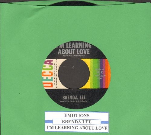 Lee, Brenda - Emotions/I°m Learnin° About Love (with juke box label) - EX8/ - 45 rpm Records