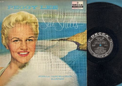 Lee, Peggy - Sea Shells: The White Birch And The Sycamore, The Gold Wedding Ring, The Maid With The Flaxen Hair, The Happy Monks (vinyl MONO LP record, RARE 1958 first pressing) - EX8/NM9 - LP Records