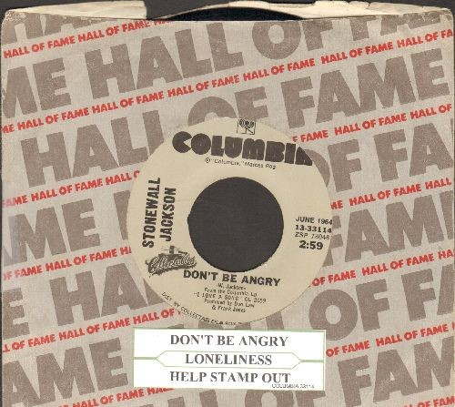 Jackson, Stonewall - Don't Be Angry/Help Stamp Out Loneliness (double-hit re-issue with juke box label and Columbia company sleeve) - EX8/ - 45 rpm Records