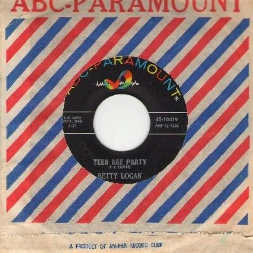 Logan, Betty - Teen Age Party/Are You Sure (with vintage ABC-Paramount company sleeve) - NM9/ - 45 rpm Records