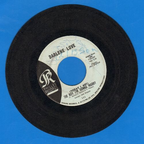 Love, Darlene - (Today I Met) The Boy I'm Gonna Marry/Playing For Keeps (light blue label early pressing, wol) - VG7/ - 45 rpm Records