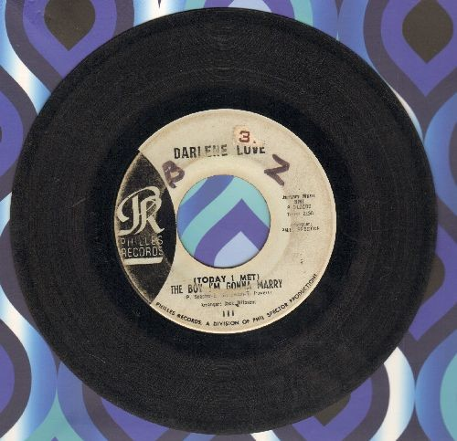 Love, Darlene - (Today I Met) The Boy I'm Gonna Marry/Playing For Keeps (light blue label early pressing, wol) - VG6/ - 45 rpm Records