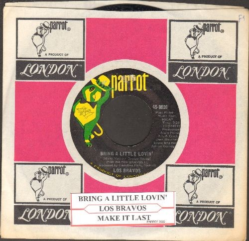 Los Bravos - Bring A Little Lovin'/Make It Last (with Parrot company sleeve and juke box label) - NM9/ - 45 rpm Records