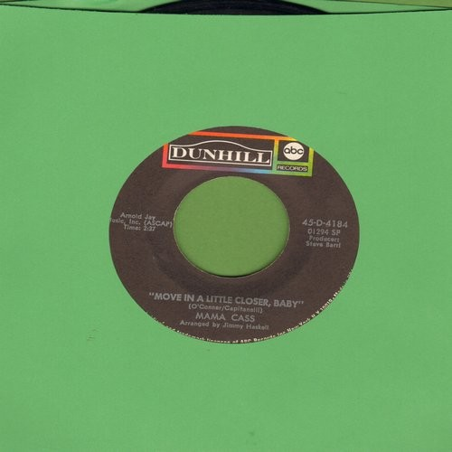 Mama Cass - Move In A Little Closer Baby (featured in film -Beautiful Thing-)/All For Me  - EX8/ - 45 rpm Records